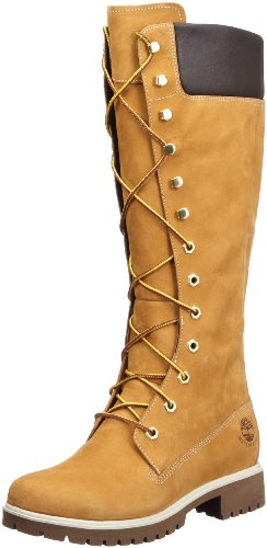 Timberland, Woms Prem 14In Wheat Wheat, Stivali alti, Donna, Marrone (Braun (Wheat Nubuck)), 39.5
