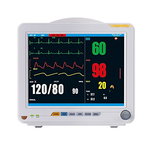 "New Portable Patient Monitor 12 Inch 6-Parameters Pr Spo2 Temp Resp Nibp Ekg 12"" Tft Display,Suitable For Adult, Pediatrics And Neonate Patients / Powerful Software Function To Support Use In Nicu, Icu, Or, Ccu Or Normal Patient Room Ylqx-18002"