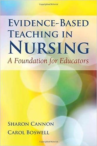 Evidence-Based Teaching In Nursing: A Foundation for Educators