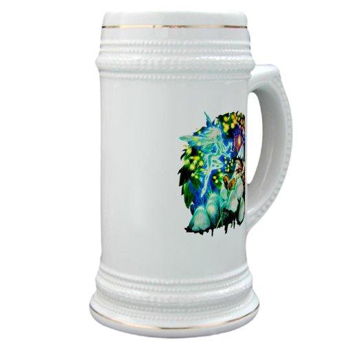 Stein (Glass Drink Mug Cup) Mushroom Garden Fairy And Gnome Fantasy Magic