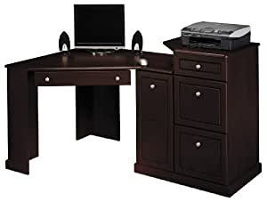 Bush Furniture Birmingham Home Office Corner Wood Computer Desk In Harvest Cherry