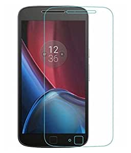 Motorola Moto G4 Plus Compatible Tempered Glass Screen Protector (Antishock, Curved Edged) (Pack of 2, Only Front Transparent Screen Protector) (Combo Offer, get a VJOY EP-10 Champ in the ear earphone, with mic (WHITE) Compatible with Motorola Moto G4 Plus worth Rupee 599/- absolutely free with Screen Protector)
