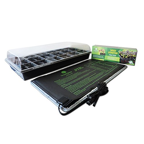 Seed Germination Propagation Kit with Growerology Heat Mat (48-cell seedling insert) (Propagator Tray compare prices)