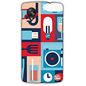 Designer Google Nexus 5 LG E980 Case Cover Nutcase -Retro Elements (Blue)