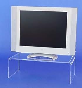 acrylglas plexiglas tv br cke 55x13x30 podest fernseherh hung monitor aufsatz. Black Bedroom Furniture Sets. Home Design Ideas