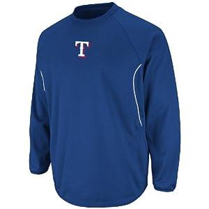 MLB Texas Rangers Therma Base Tech Fleece, Royal White by Majestic