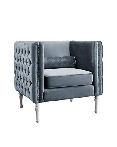 TOV Furniture Bryn Velvet Chair, Grey