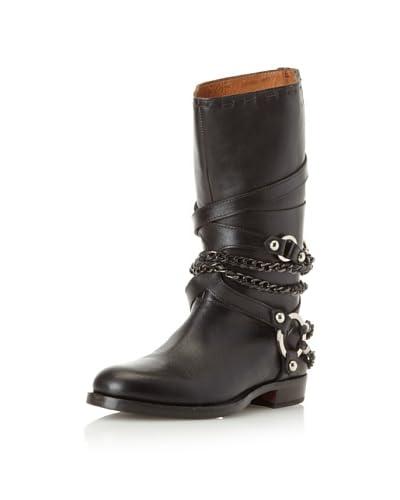 True Religion Women's Molly Casual Moto Boot  - Black