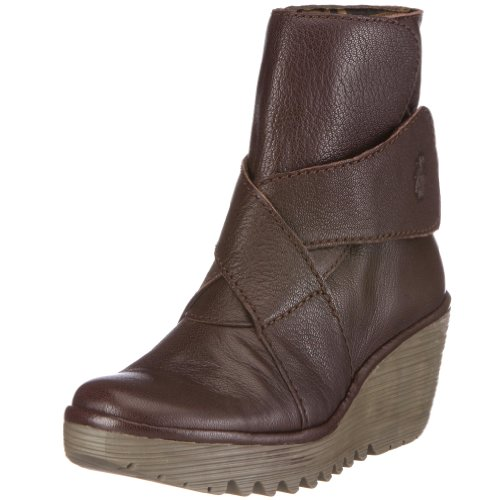 Fly London Women's Yeddo Dark Brown Wedges Heels P500084009 4 UK