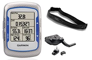 Garmin Edge 500 Cycling GPS with Speed Cadence Sensor and Digital Heart Rate Monitor by Garmin