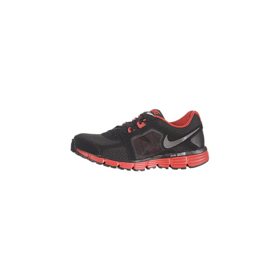 c86b1776cdc Nike Dual Fusion ST 2 Mens Black Gray Red Running Shoes Sneaker on ...