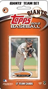Buy 2012 Topps San Francisco Giants Team Set In Storage Album (Team Edition) - 17 Cards by 2012 Topps