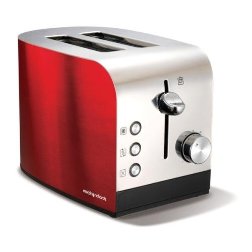 Morphy Richards 44206 Accents 2 Slice Toaster Red by Morphy Richards