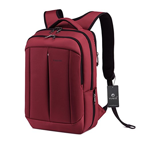 YAAGLE Mens Womens Teenagers Simple Casual Day Pack Business Travel Backpack 14-inch Laptop Backpack Rucksack Schoolbag Green Black Burgundy