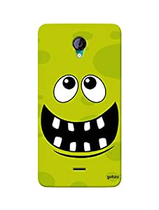 Gobzu Printed Hard Case Back Cover for Micromax Unite 2 A106 - Rolling Eyes-5