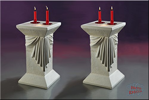 2 Set Lampe Säule Stehlampe Blumensäule Dekosäule Medusa Designer Säule mit Licht