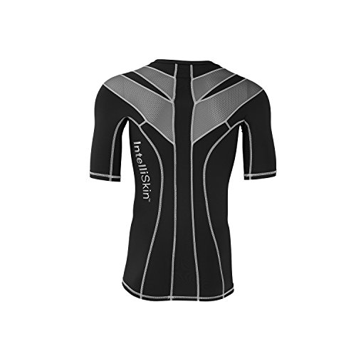 IntelliSkin Men's Foundation 2.0 Athletic Shirt, Silver Burst/Black, X-Large (Intelliskin Llc compare prices)