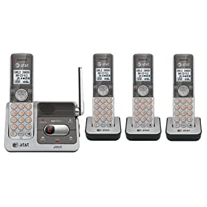 AT&T CL82401 DECT 6.0 Cordless Phone, Silver/Grey,