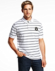 Blue Harbour Pure Cotton Twin Striped Polo Shirt