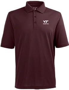 Virginia Tech Hokies Antigua Mens Maroon Pique Xtra-Lite Polo Shirt by Antigua