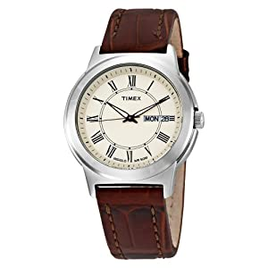 Timex Men's T2E581 Elevated Classics Dress Brown Leather Strap Watch