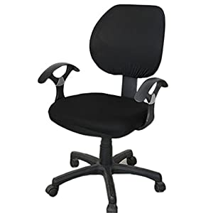 Loghot Pure Color Stretch Fabrics Chair Covers Computer Office Universal Stretch Rotating Chair Cover