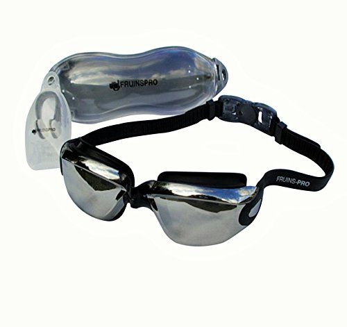 Swimming Goggles with Anti Fog Technology for Men and Women - Flexible Nose Bridge for Perfect Comfortable Fit for Adults and Kids - Mirror Lenses - 180 Degree Wide Angle Vision - Packaged in Premium Goggle Case -**FREE **Ergonomic Silicone Earplugs & Nose Peg Included- 100% Satisfaction Money Back Guarantee -