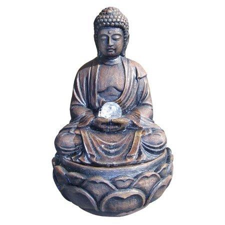 Buddha Fountain with Crystal