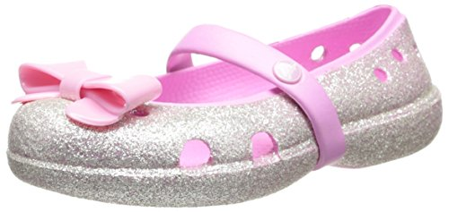 Toddler Girl's CROCS 'Keeley' Glitter Bow Mary Jane, Size 10