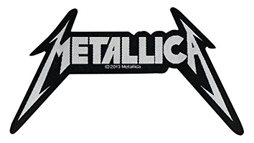 Metallica toppa logo Shaped Tessuto 12 x 7 cm
