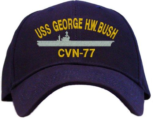 USS George H.W. Bush CVN-77 Embroidered Baseball Cap - Navy