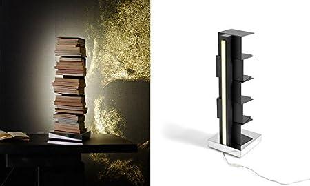 Opinion Ciatti - Ptolomeo Luce H 75 - Libreria Nera/Base Inox