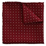 Peckham Rye London Spot Silk Pocket Square Burgundy