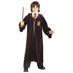 Rubies Costume Premium Harry Potter Child's Velvet Costume Robe With Gryffindor Emblem, Medium by Rubies