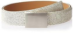 Parx Men's Leather Belt (8903804195892_90_White)
