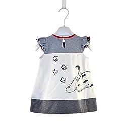 Zhuannian Baby Girls Doggy Love Short Sleeve Dress