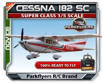 Cessna 182 Super Class 1/5 Scale RTF RC Airplane w/6 Chan. 2.4 GHZ Radio