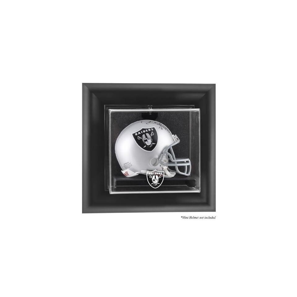 Oakland Raiders Wall  Mini Helmet Display Case   Memories   Mounted Memories Certified   NFL Mini Helmet Display Cases Sports Collectibles