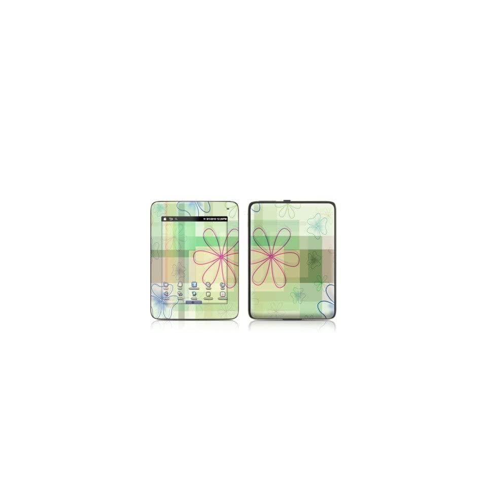 Plaid Flower Design Protective Decal Skin Sticker for Velocity Micro Cruz E Book Reader