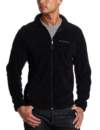 Columbia Men's Steens Mountain Full Zip Fleece Jacket, Black, Small