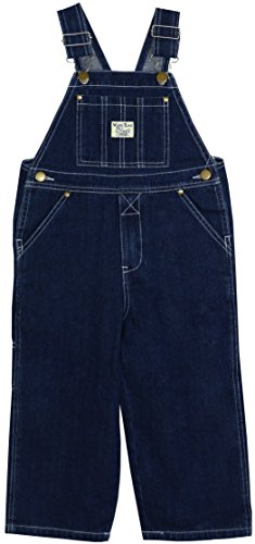 West End Blues Little Boys Toddler Kids Soft Washed Denim Bib Overall