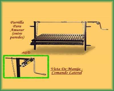 AD-125D Argentinischer Einbaugrillrost online bestellen