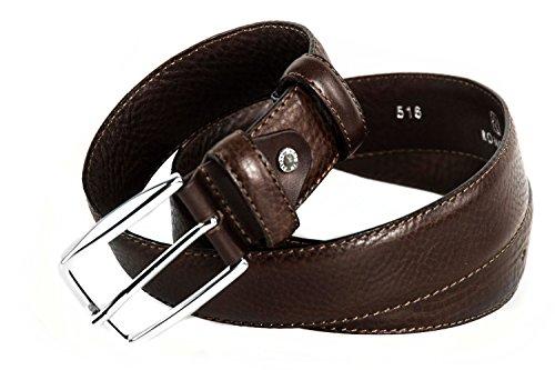 Cintura uomo classica RONCATO moro cinta in pelle impunturata lunga 120 cm R4165