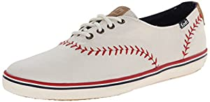 Keds Women's Champion Pennant Baseball Fashion Sneaker, Off White, 8 M US