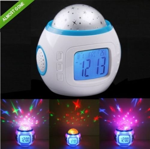 Sky Lady Master Night Light Projector Lamp Bed Dilatory Alarm Clock Children