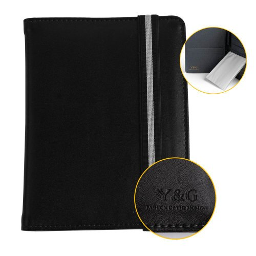 PW1011 Black Grey Classic Gentlemen Business Lawyers Beautiful Holders For Travel Passport Holder Valentines Gift For Him By Y&G (Target Wallet compare prices)
