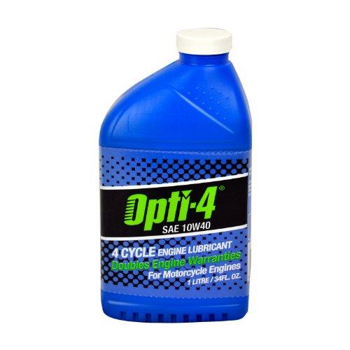 Opti-4 44121 Single SAE 10W40 34Oz 4-Cyc Engine Lubricant for ATVs, Motorcycles