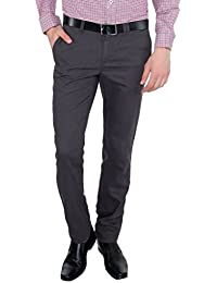 Only Vimal Men's Dark Green Slim Fit Cotton Chinos - B01H1XODI8