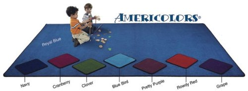 Flagship Carpets AMER1208BB 12 x 8ft Bluebird Americolors Educational Rug learning carpets us map carpet lc 201
