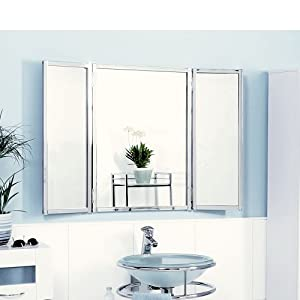 Badspiegel klappbar k che haushalt - Spiegel 3 teilig klappbar ...
